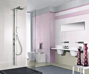 płytka Gardenia Orchidea w łazience