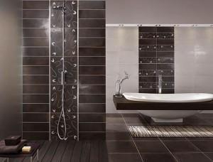 La Faenza brązowa w łazience