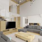 duży pokój  projekt